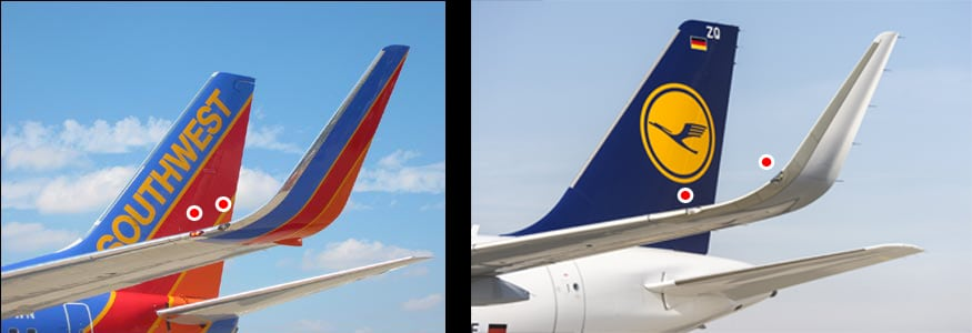 Airbus A320 and Boeing 737 winglets