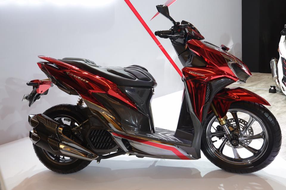 Download Modifikasi Motor Vario 125 Warna Merah Terbaru Dan